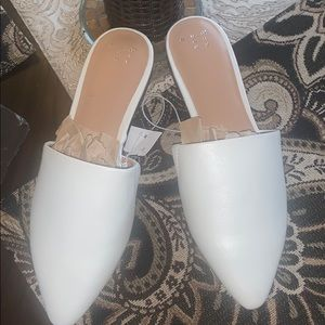 A New Day white Mules size 71/2 will fit a 7